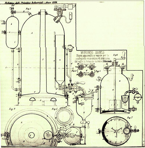 Espresso-machine-first-patent-angelo-moriondo